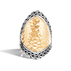 Classic Chain Silver & Gold Ring - RZ96156-John Hardy-Renee Taylor Gallery