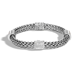 Classic Chain Hammered Silver Bracelet - BB90471-John Hardy-Renee Taylor Gallery