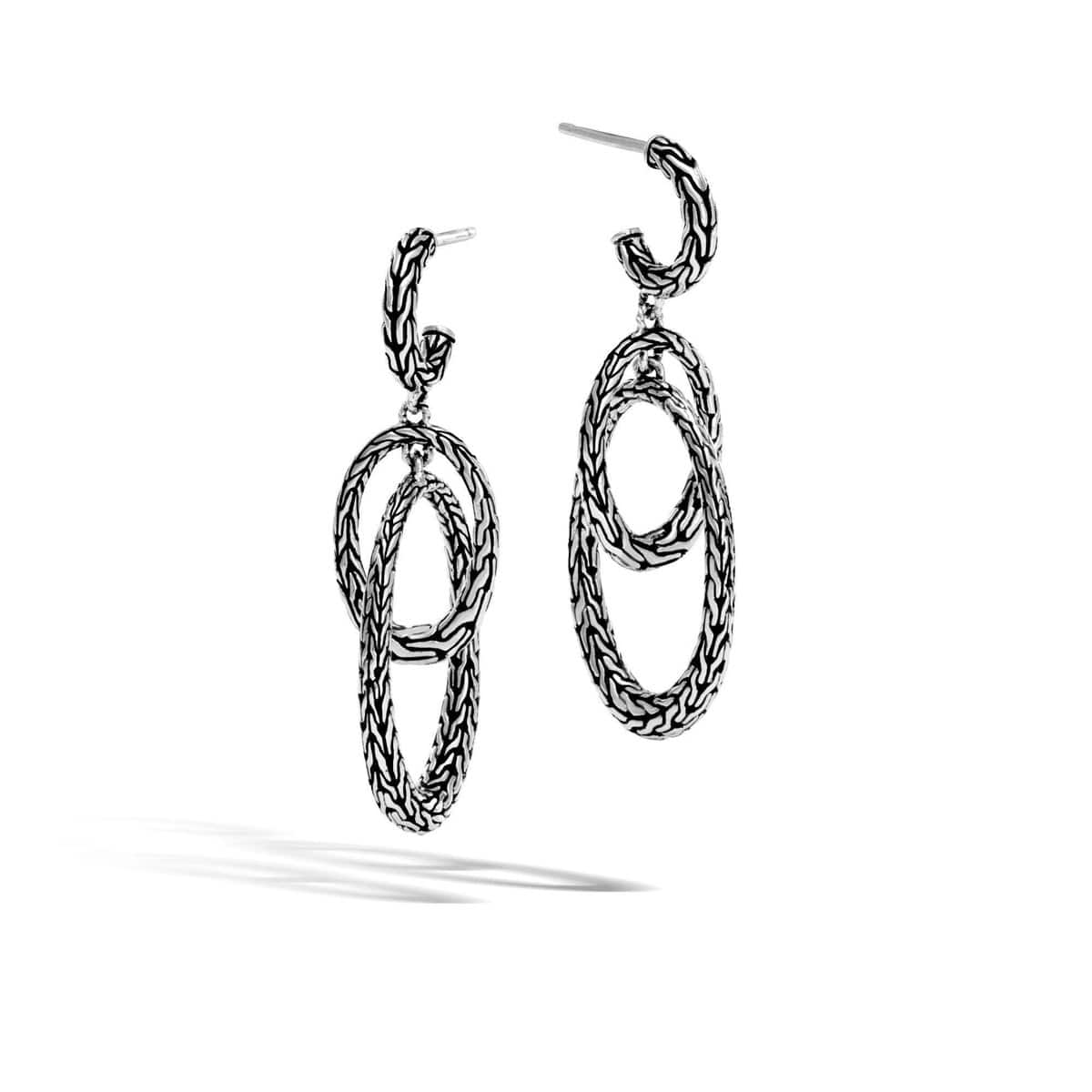 Classic Chain Silver Drop Earrings - EB996677-John Hardy-Renee Taylor Gallery