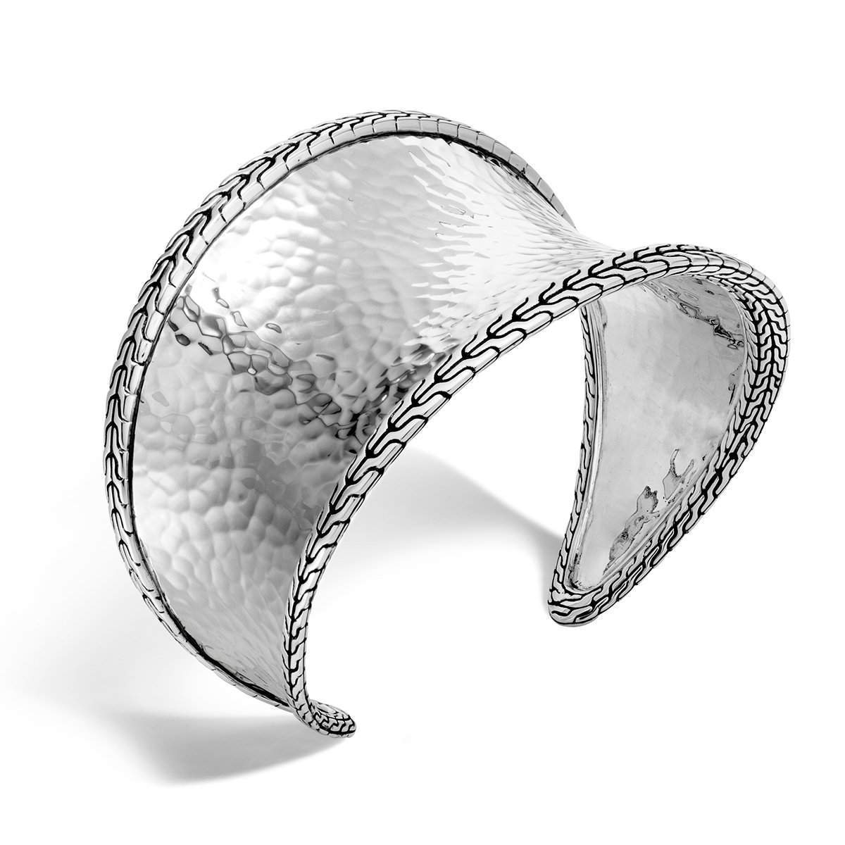 Classic Chain Silver Small Cuff - CB97095-John Hardy-Renee Taylor Gallery
