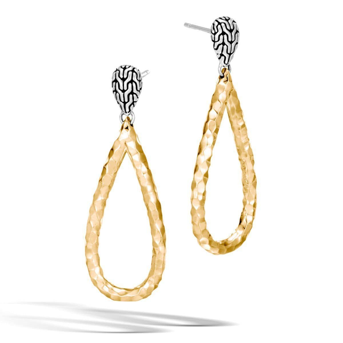 Classic Chain Silver & 18K Gold Earrings - EZ999582