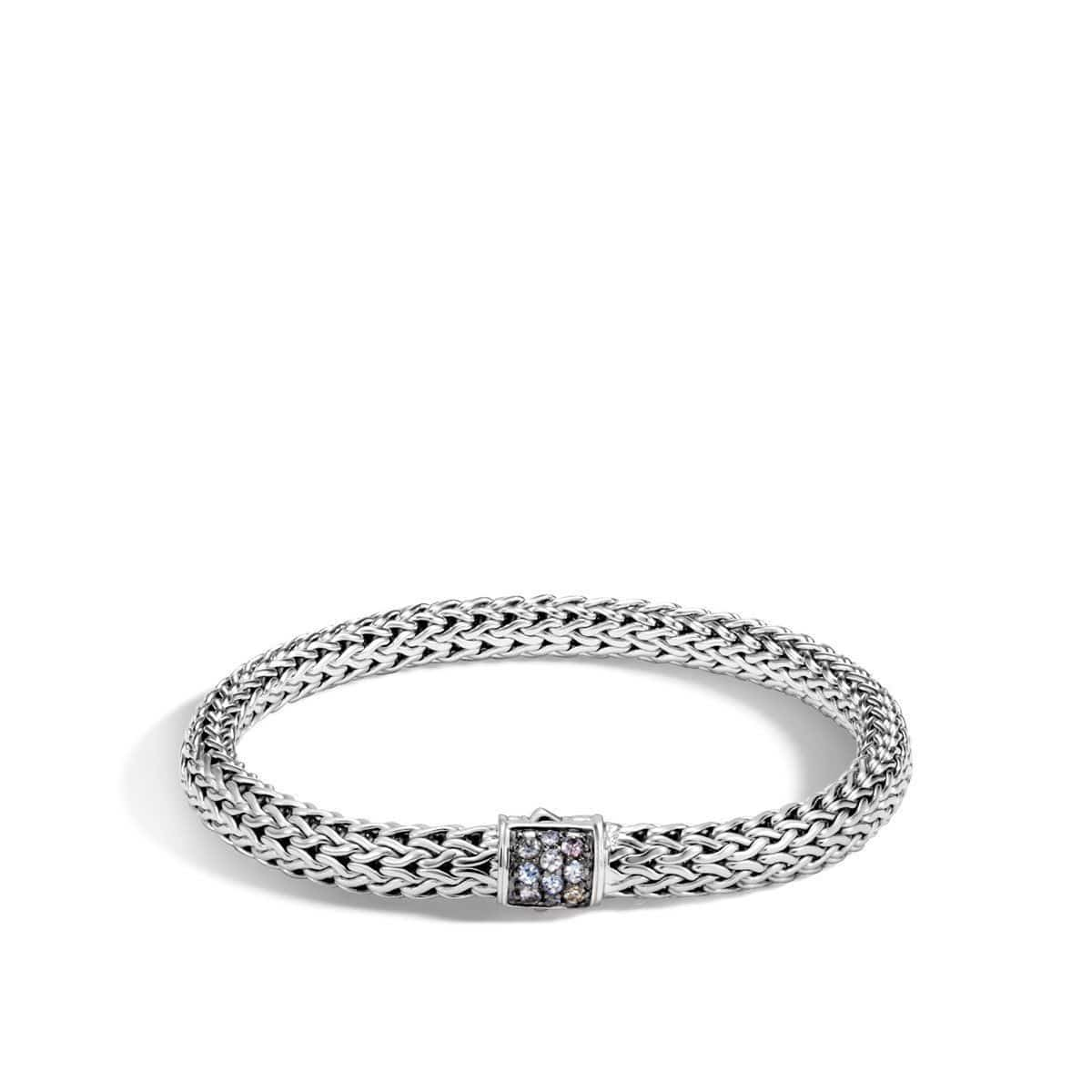 Classic Chain Silver & Sapphire Bracelet - BBS9042GYS-John Hardy-Renee Taylor Gallery