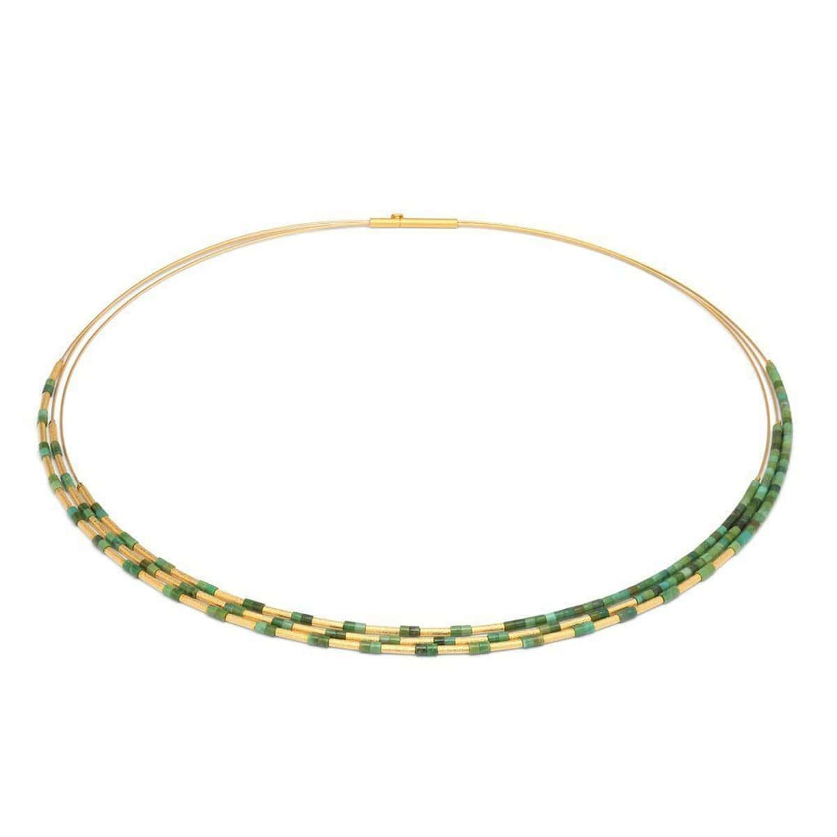 Clea Green Turquoise Necklace - 85375356-Bernd Wolf-Renee Taylor Gallery