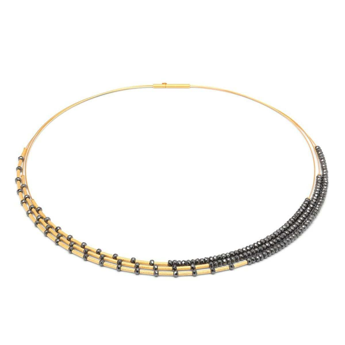 Clea Hematine Facetted Necklace - 85363206-Bernd Wolf-Renee Taylor Gallery