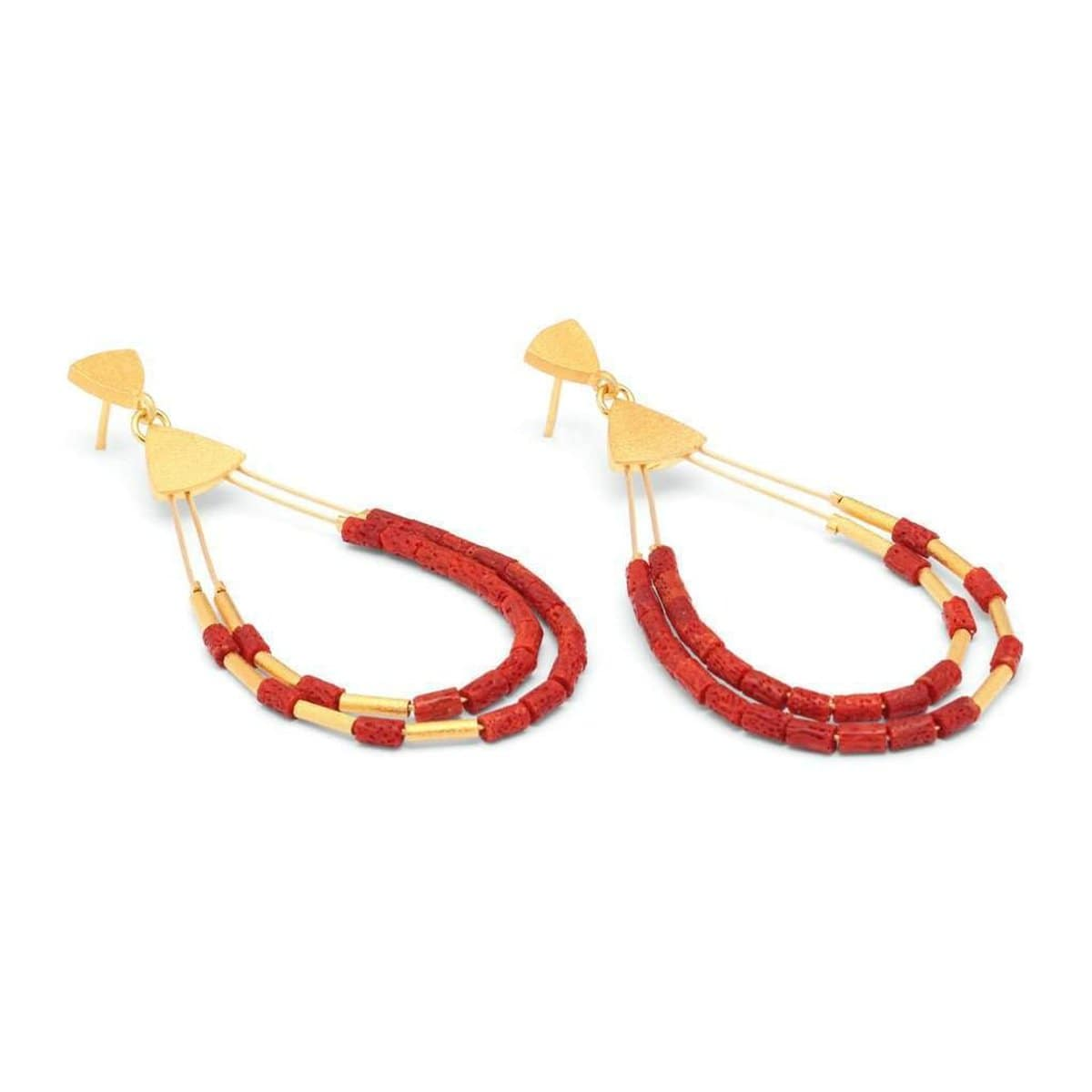 Clea Red Coral Earrings - 15592296 - Bernd Wolf