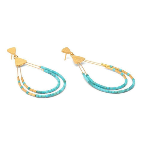 Clea Turquoise Earrings - 15592256-Bernd Wolf-Renee Taylor Gallery