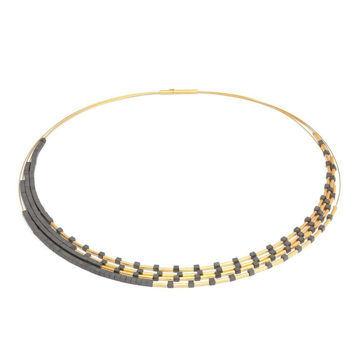 Cleama Hematite Necklace - 85372276-Bernd Wolf-Renee Taylor Gallery