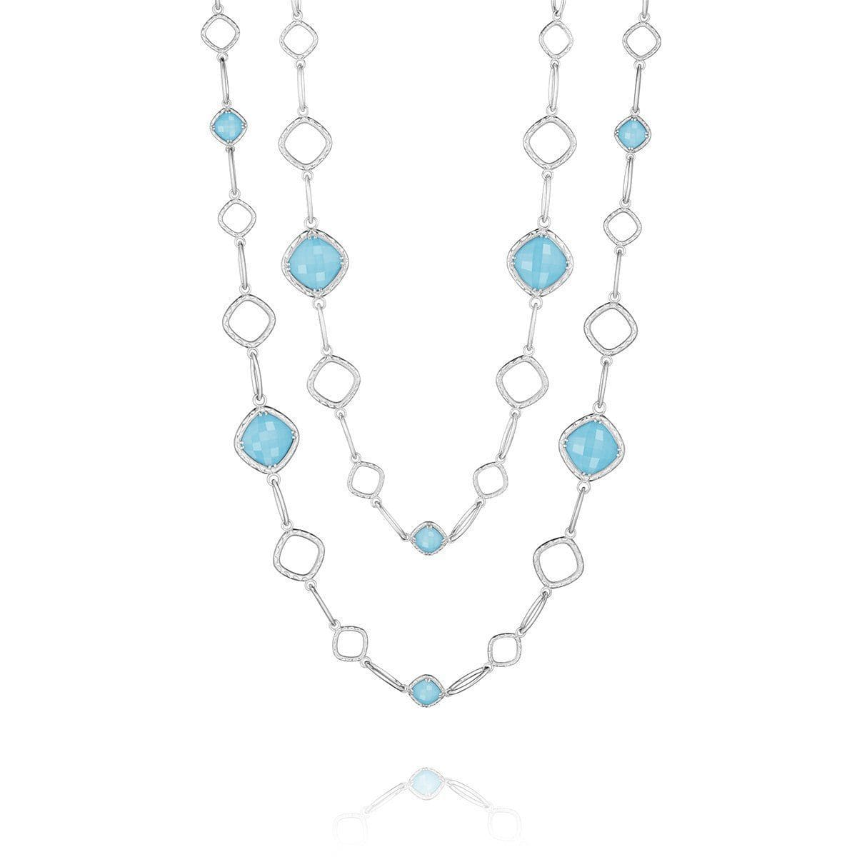 Clear Quartz Neolite Turquoise Necklace - SN11405