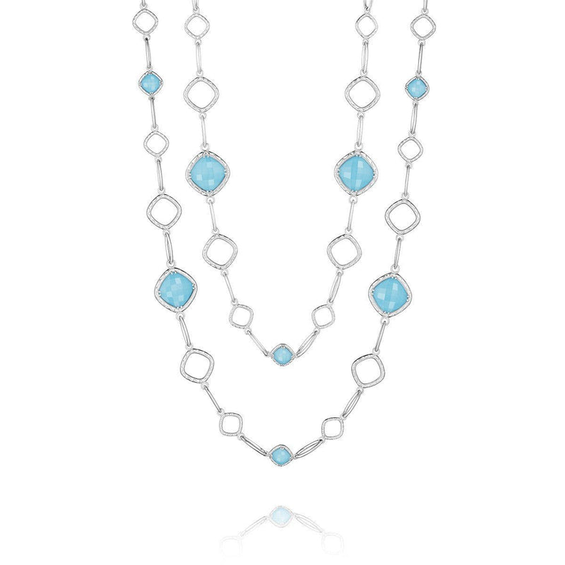 Clear Quartz Neolite Turquoise Necklace - SN11405-Tacori-Renee Taylor Gallery