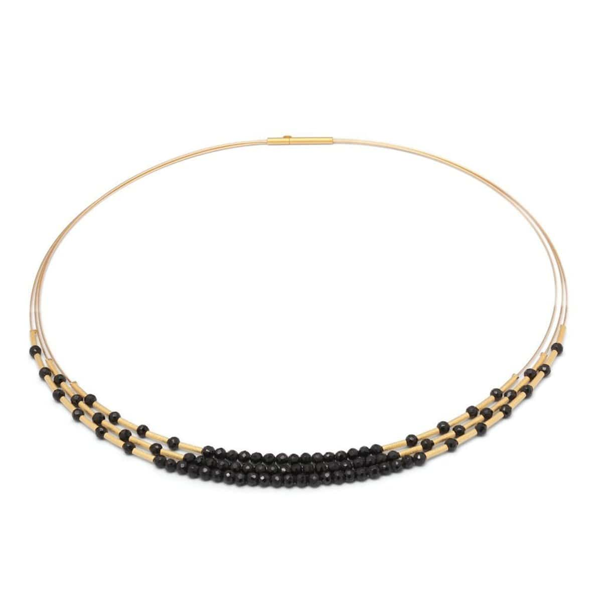 Clema Black Spinel Necklace - 85219496-Bernd Wolf-Renee Taylor Gallery