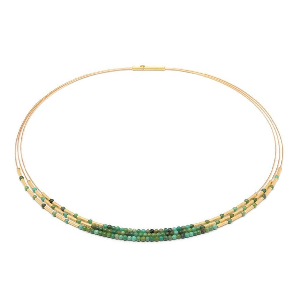 Clema Green Turquoise Necklace - 85219356-Bernd Wolf-Renee Taylor Gallery