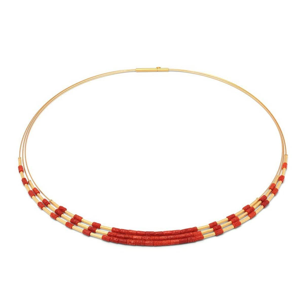 Clema Red Coral Necklace - 85219296-Bernd Wolf-Renee Taylor Gallery