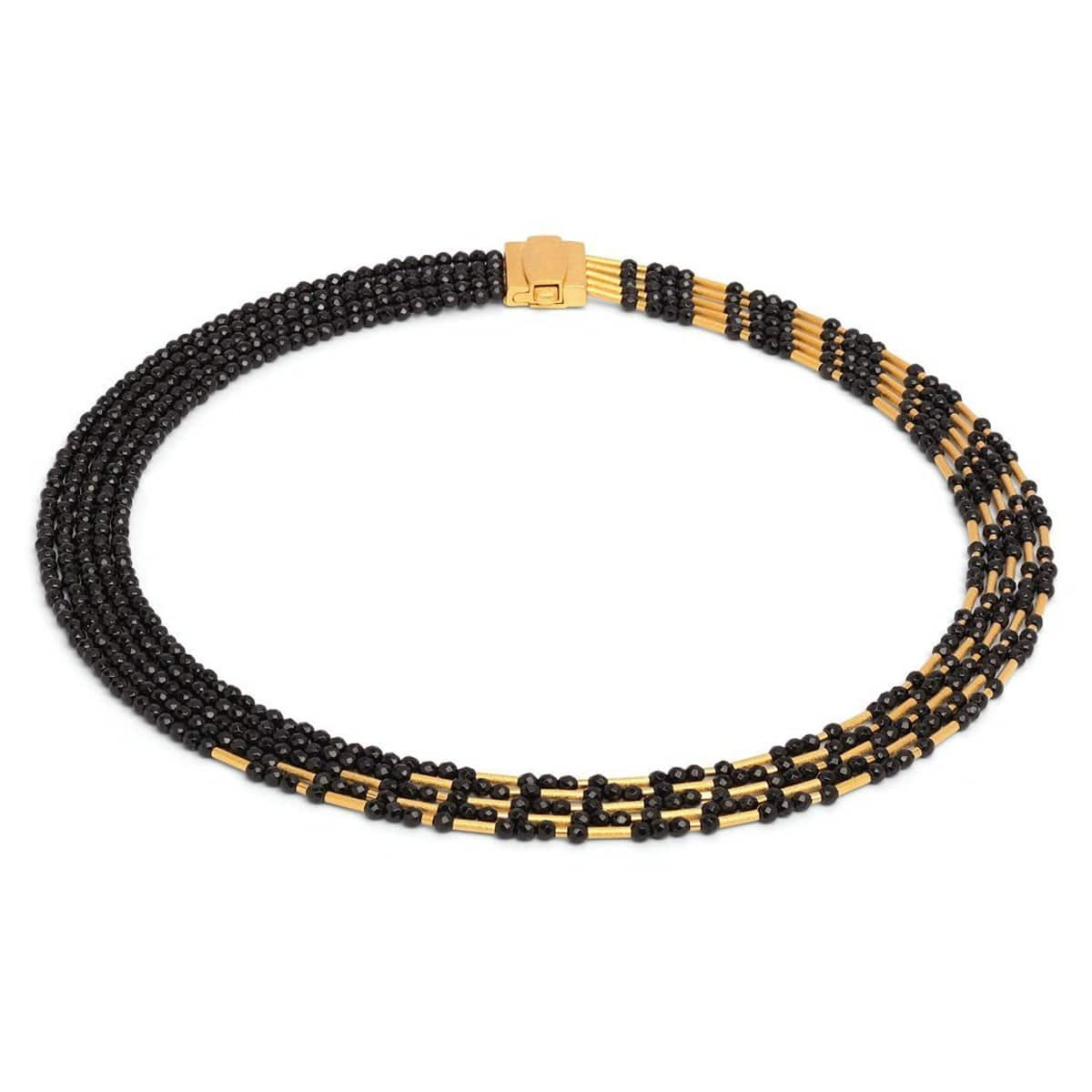 Cleopatra Black Spinel Necklace - 84014496-Bernd Wolf-Renee Taylor Gallery