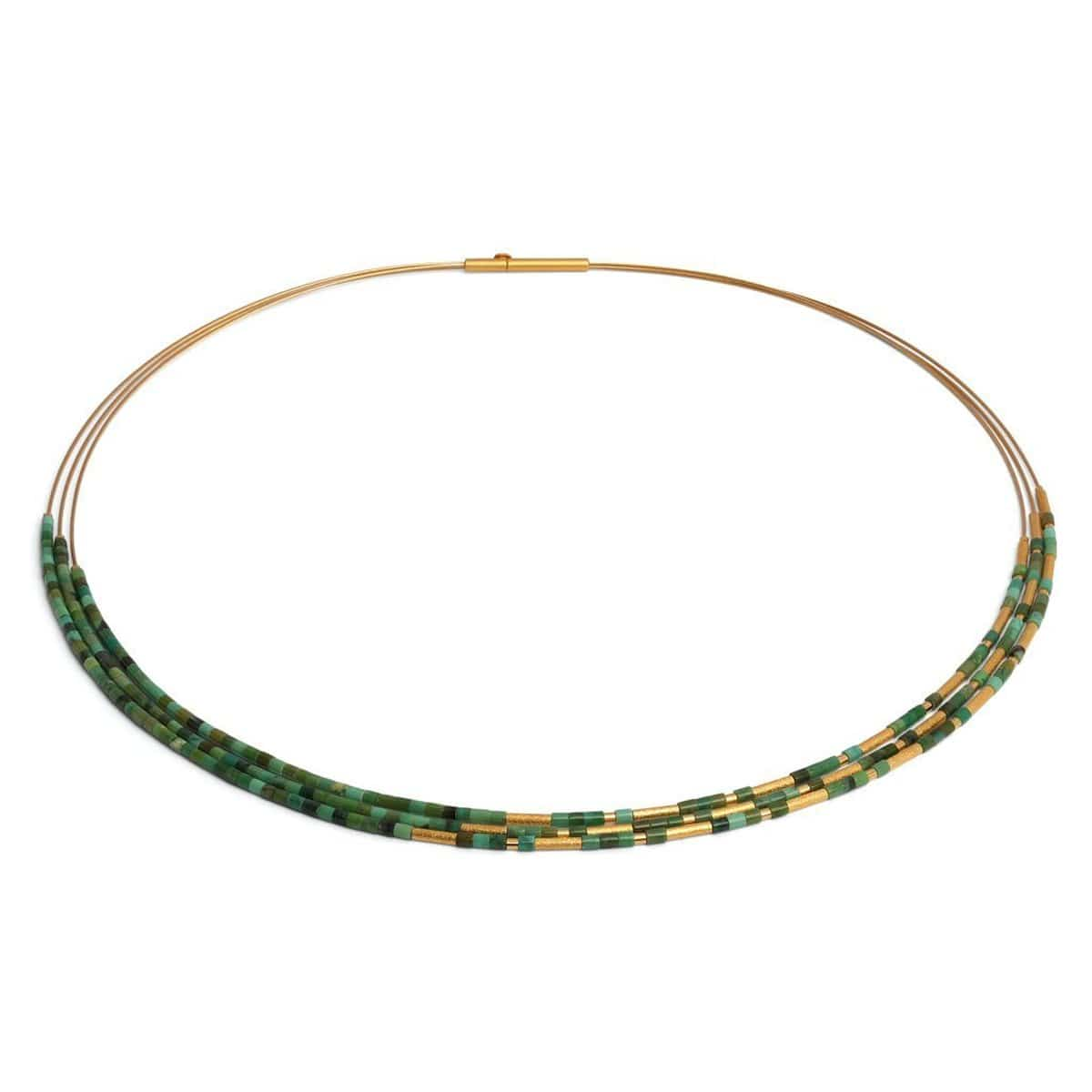 Clia Green Turquoise Necklace - 85231356-Bernd Wolf-Renee Taylor Gallery