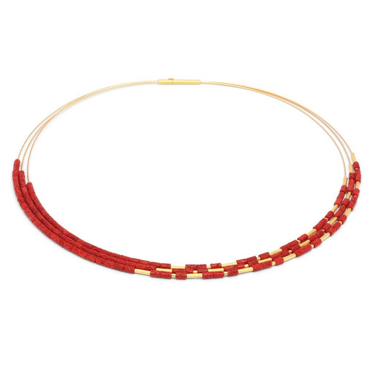 Clia Red Coral Necklace - 85231296-Bernd Wolf-Renee Taylor Gallery