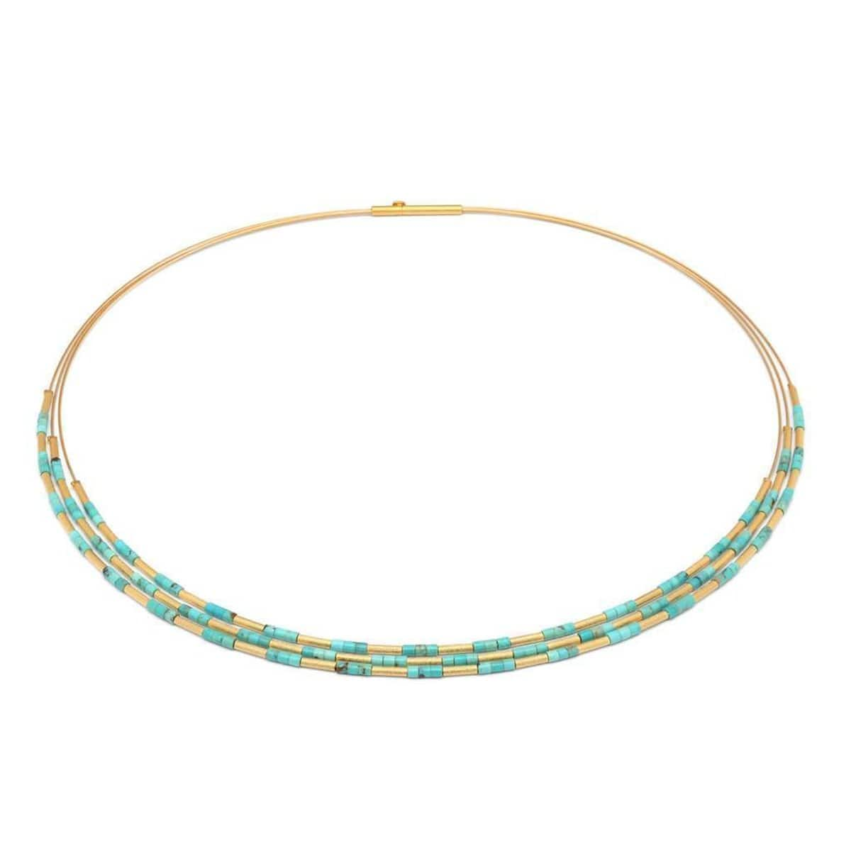 Clia Turquoise Necklace - 85223256-Bernd Wolf-Renee Taylor Gallery