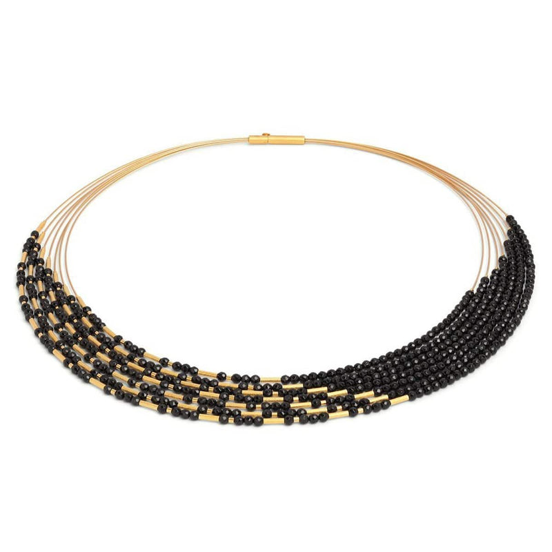 Cliascala Black Spinel Necklace - 85371496-Bernd Wolf-Renee Taylor Gallery