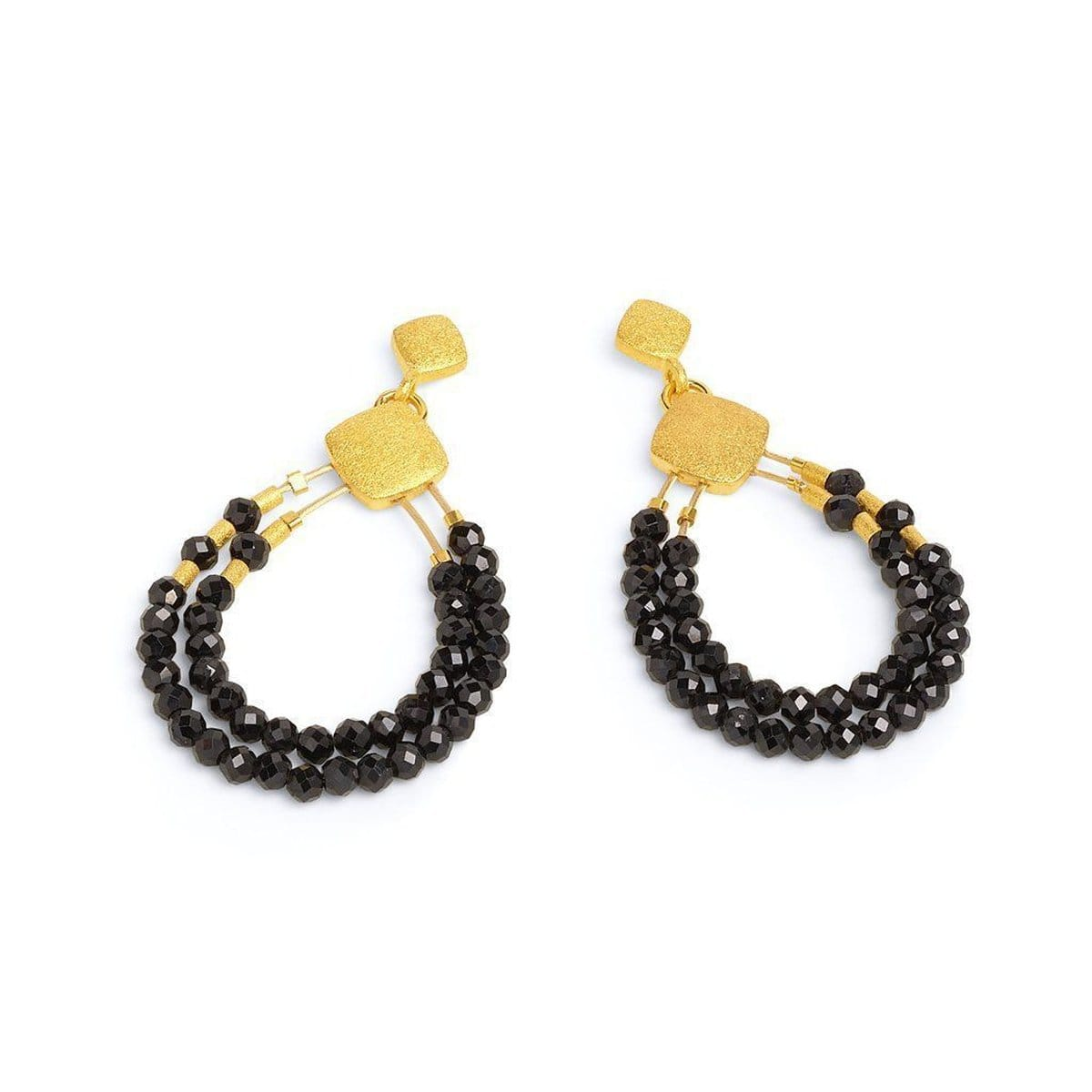 Clini Black Spinel Earrings - 15576496-Bernd Wolf-Renee Taylor Gallery