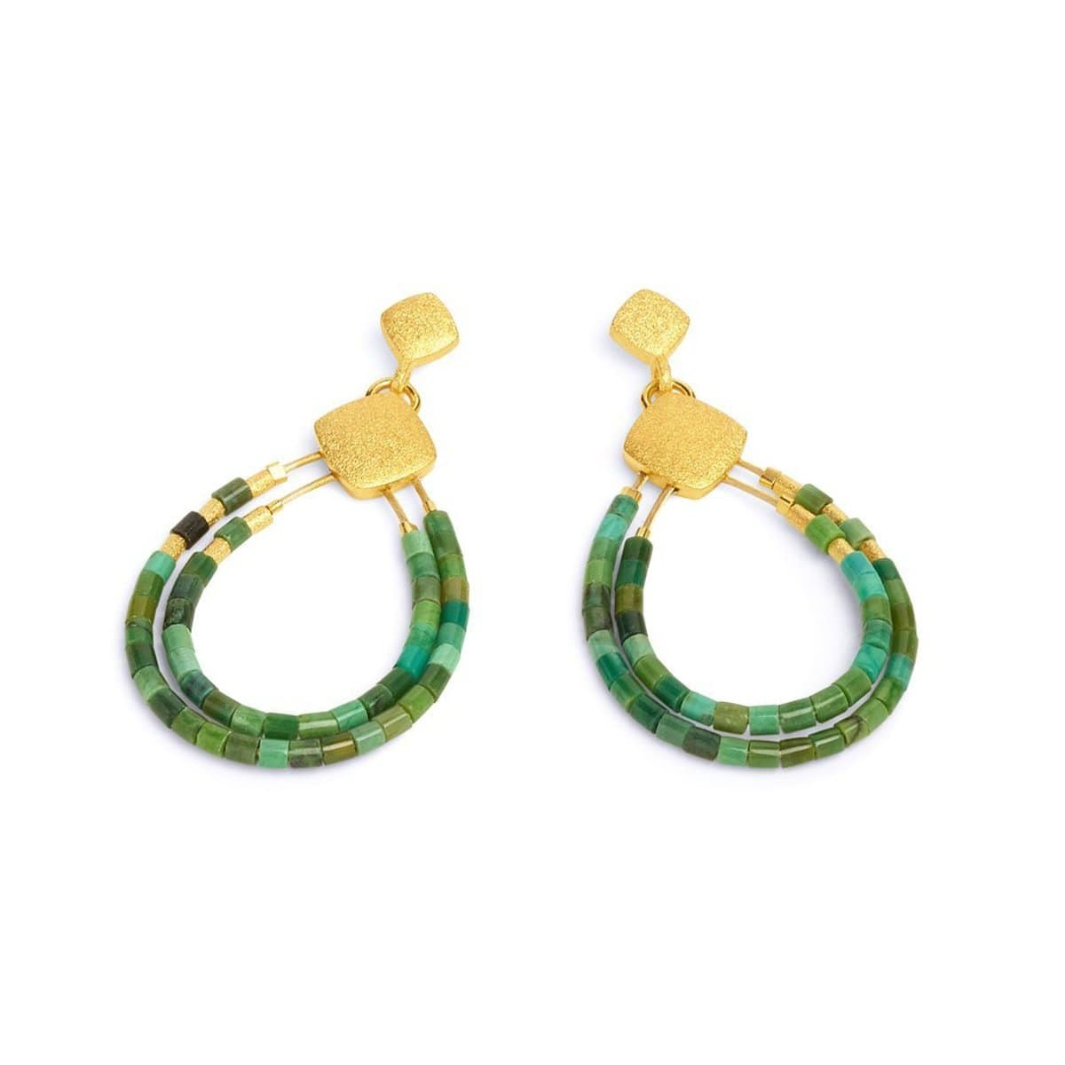 Clini Green Turquoise Earrings - 15576356-Bernd Wolf-Renee Taylor Gallery