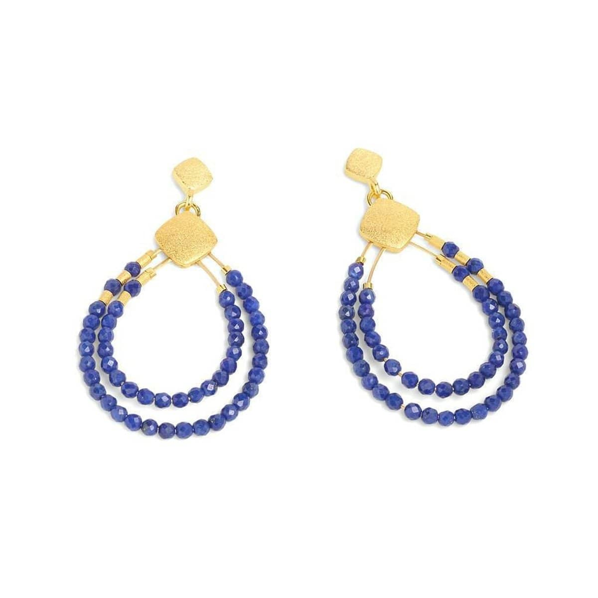 Clini Lapis Lazuli Earrings - 15576236-Bernd Wolf-Renee Taylor Gallery