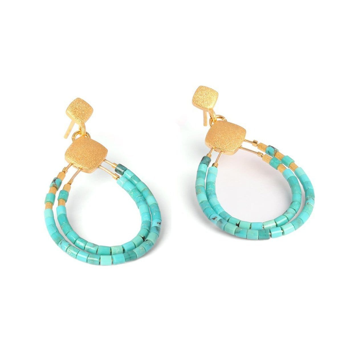 Clini Turquoise Earrings - 15576256-Bernd Wolf-Renee Taylor Gallery