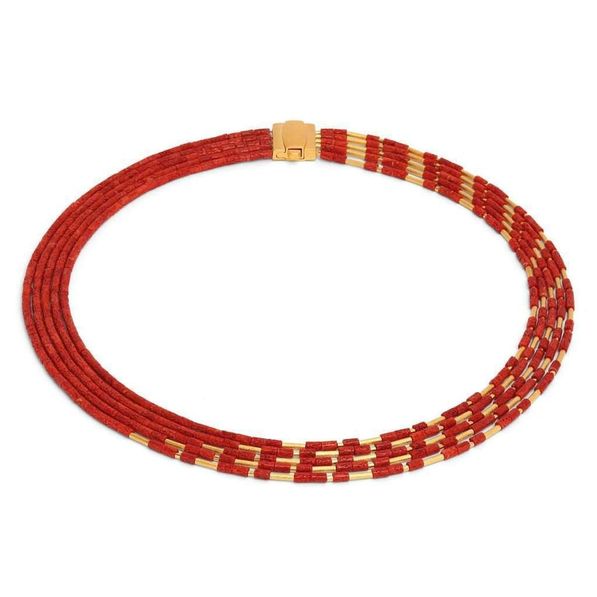 Cliopetra Red Coral Necklace - 84014296-Bernd Wolf-Renee Taylor Gallery