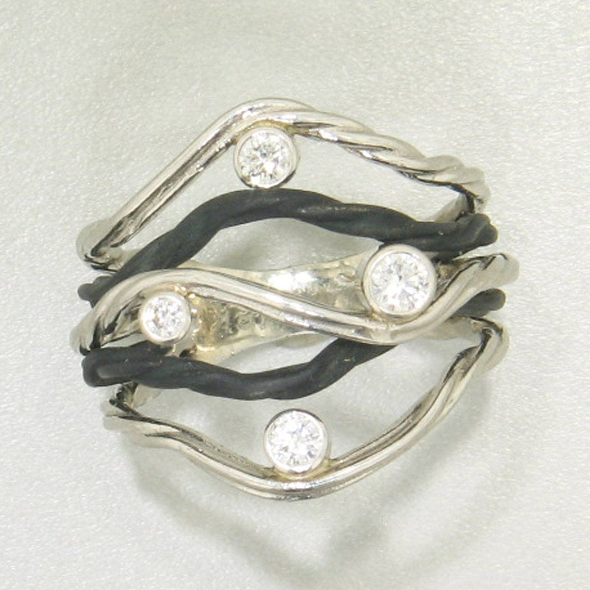 Clover Five Wire Ring - 44R1-1-1GS-WG/ST-Sarah Graham-Renee Taylor Gallery