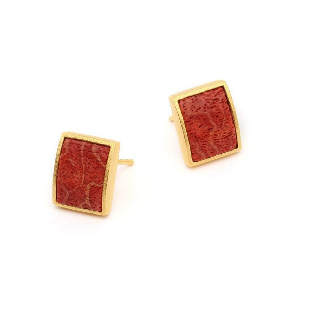 Colano Coral Earrings - 19250296-Bernd Wolf-Renee Taylor Gallery
