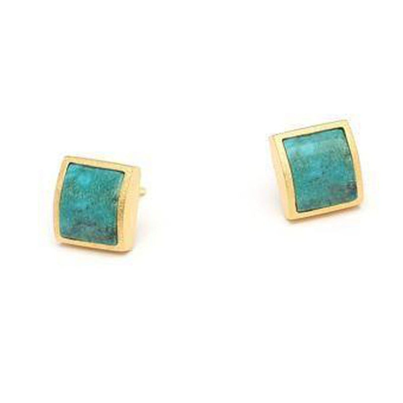 Colina Turquoise Earrings - 19229256-Bernd Wolf-Renee Taylor Gallery