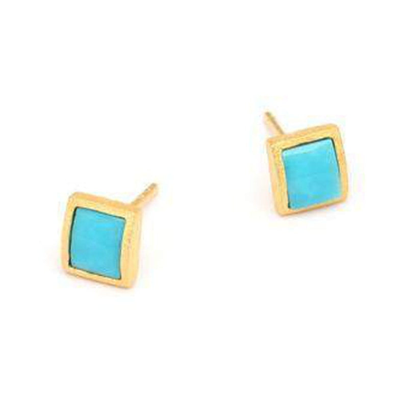 Colini Turquoise Earrings - 19216256-Bernd Wolf-Renee Taylor Gallery