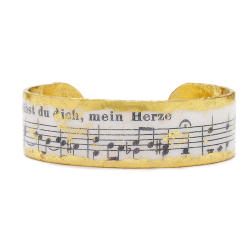 "Concerto .75"" Gold Cuff - MU106-Evocateur-Renee Taylor Gallery"
