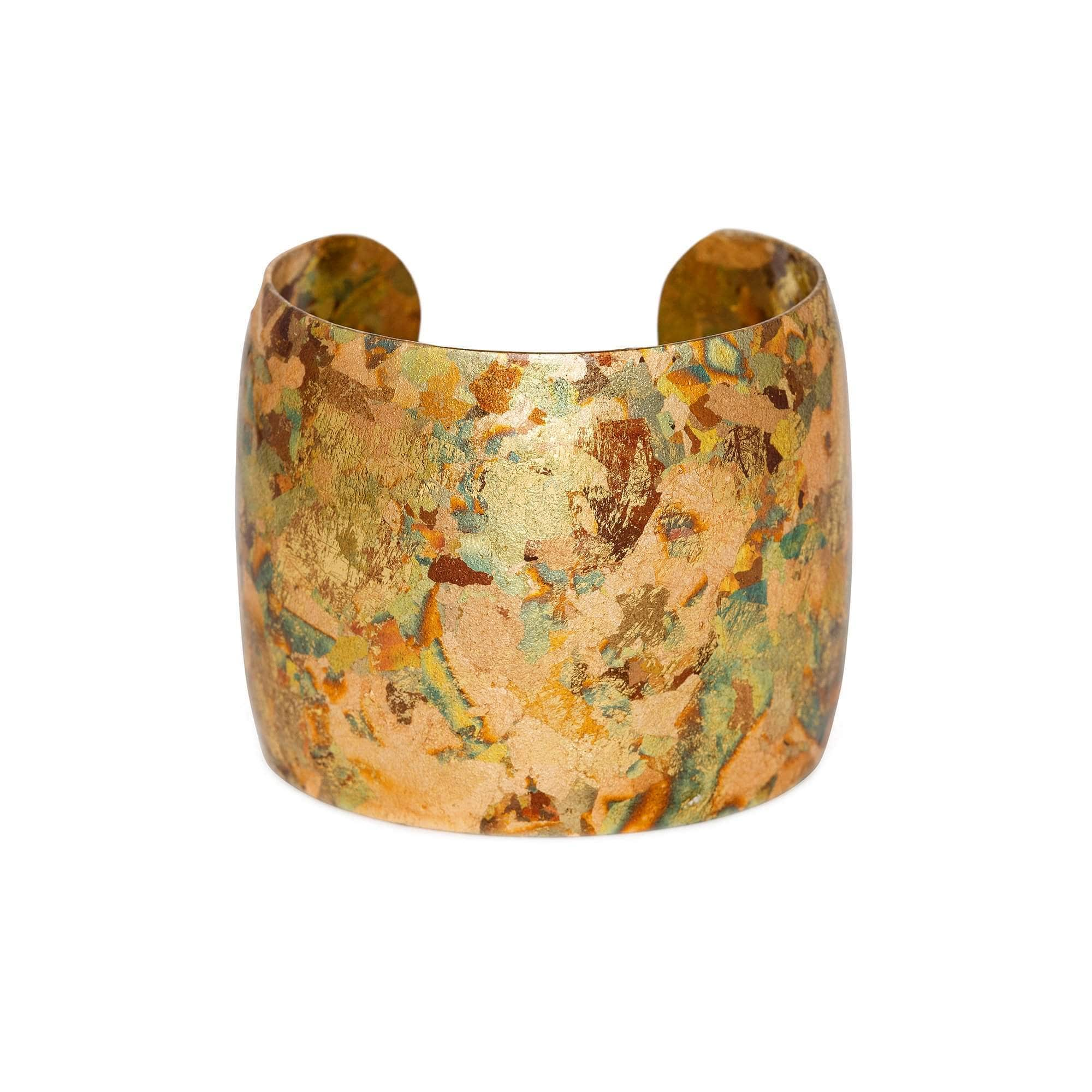 "Confetti 2"" Gold Cuff - AC151-Evocateur-Renee Taylor Gallery"