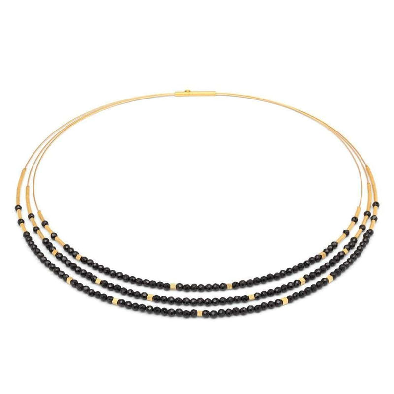 Cubaleni Black Spinel Necklace - 83206496-Bernd Wolf-Renee Taylor Gallery