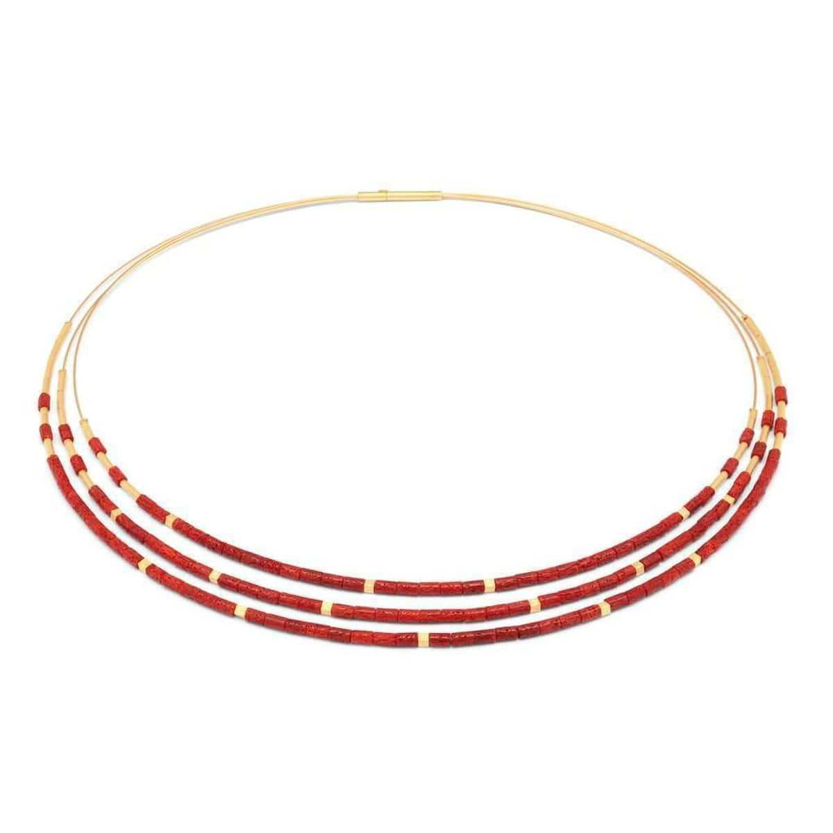 Cubaleni Red Coral Necklace - 83206296-Bernd Wolf-Renee Taylor Gallery