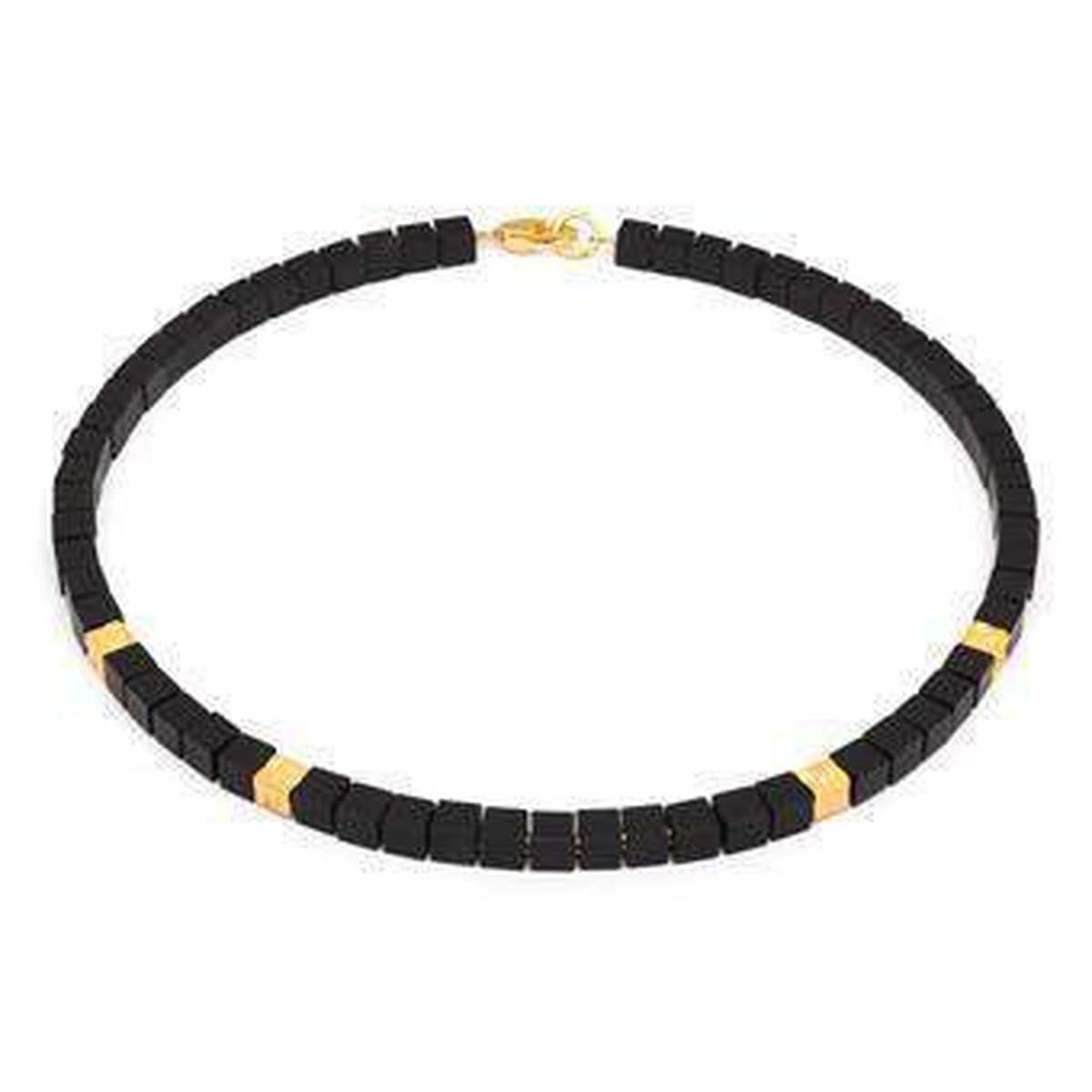 Cube Onyx Necklace - 84481896-Bernd Wolf-Renee Taylor Gallery