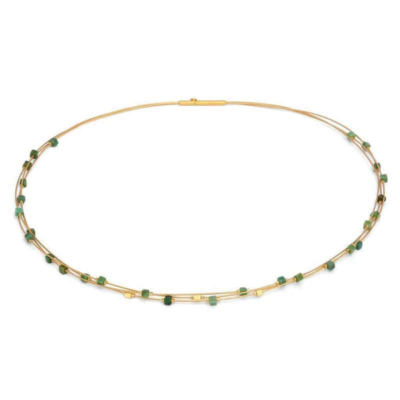 Cubelito Green Turquoise Necklace - 85344356-Bernd Wolf-Renee Taylor Gallery
