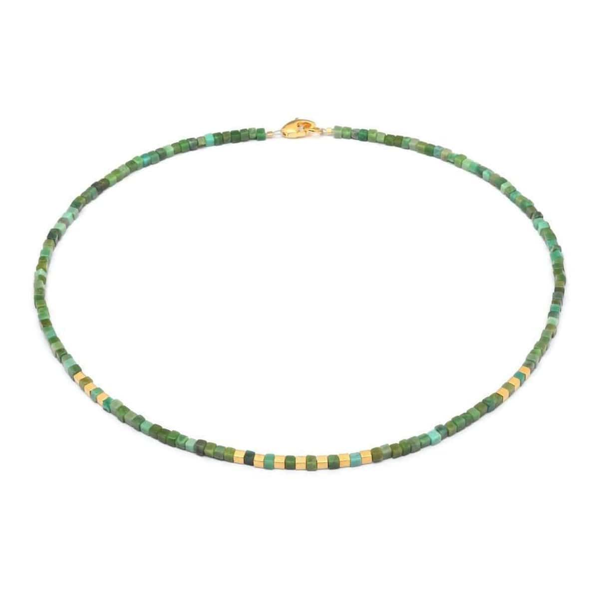 Cubesa Green Turquoise Necklace - 84436356-Bernd Wolf-Renee Taylor Gallery