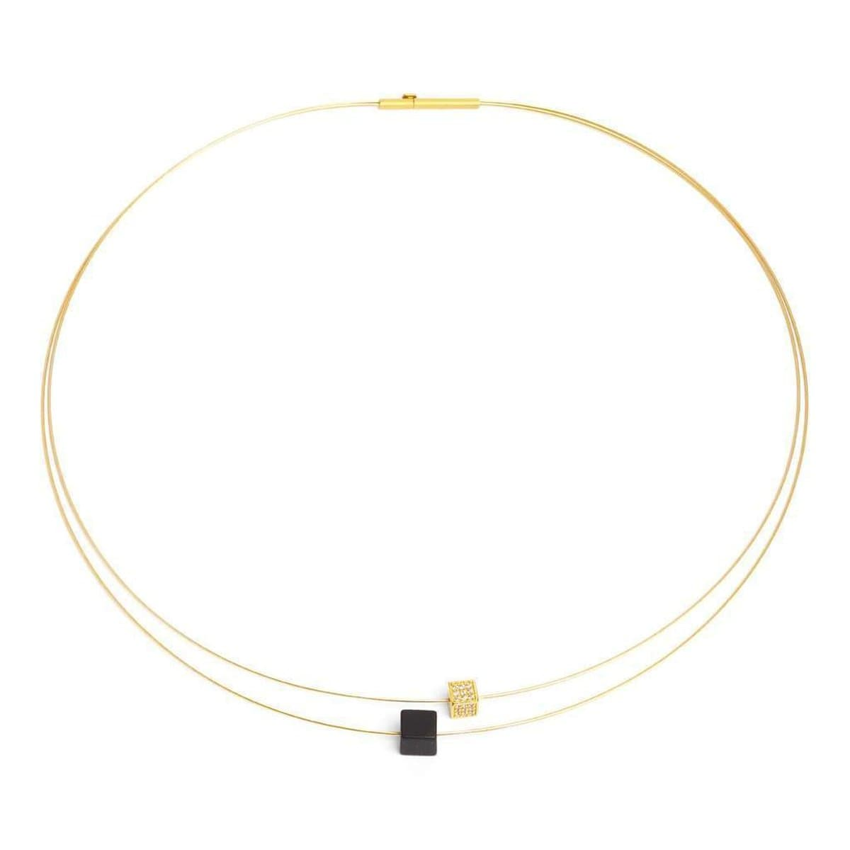 Cubetta Onyx Zirconia Necklace - 87156896