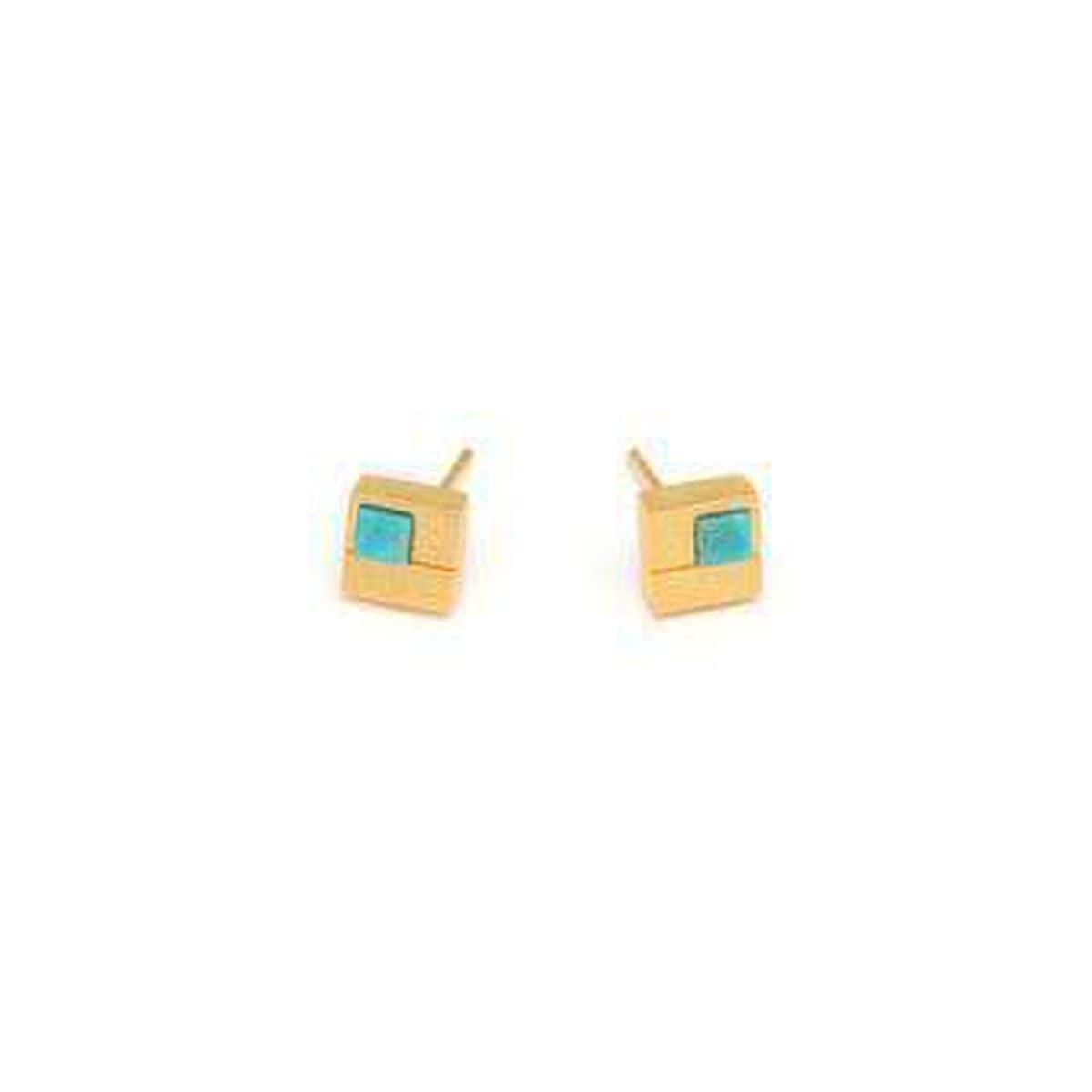 Cubio Turquoise Earrings - 19242256