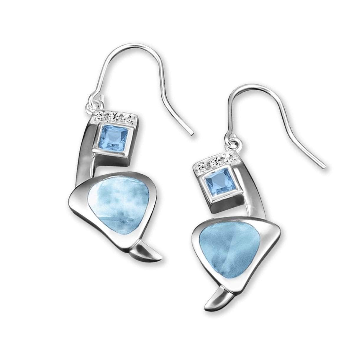 Curva Earrings - Ecurv00-00-Marahlago Larimar-Renee Taylor Gallery