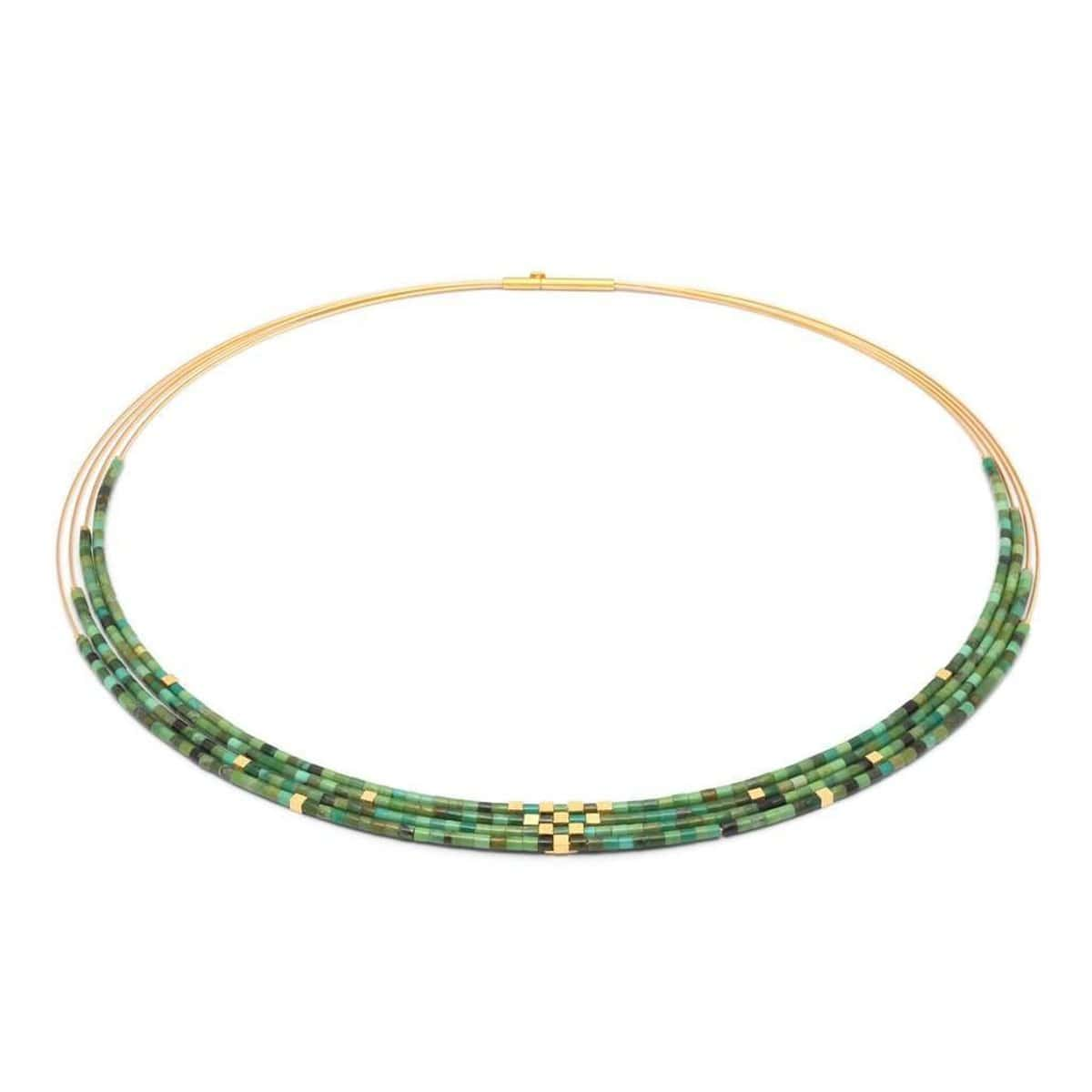 Cuva Green Turquoise Necklace - 85455356
