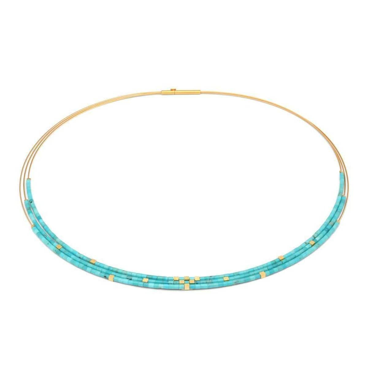 Cuvi Turquoise Necklace - 85454256-Bernd Wolf-Renee Taylor Gallery