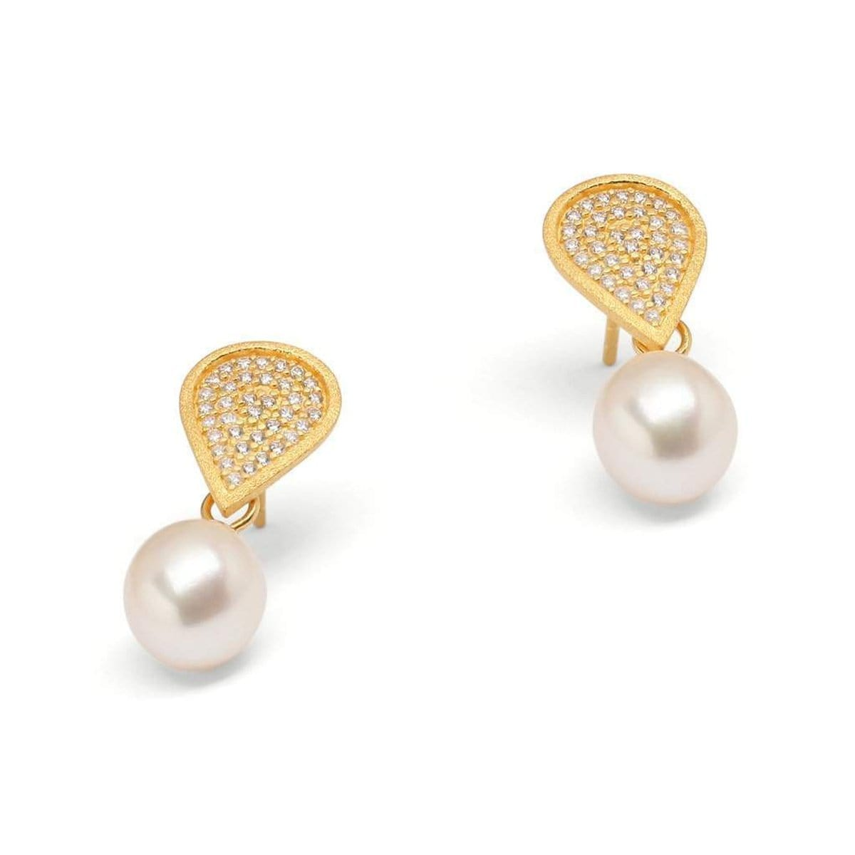 Dania Freshwater Pearl Earrings - 15518656-Bernd Wolf-Renee Taylor Gallery