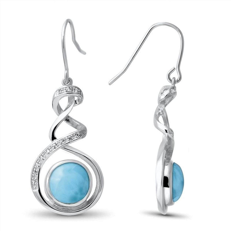 Dante Earrings - Edant00-00-Marahlago Larimar-Renee Taylor Gallery
