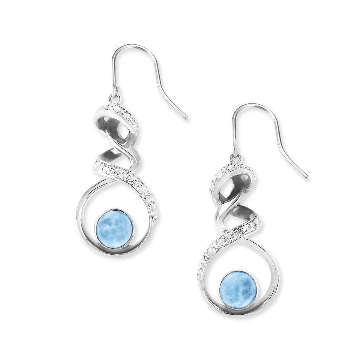 Dante White Topaz Earrings - Edant00-00-Marahlago Larimar-Renee Taylor Gallery