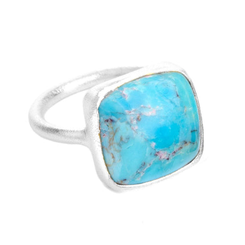 Dharma Sterling Silver & Turquoise Ring - S7015R-Nina Nguyen-Renee Taylor Gallery