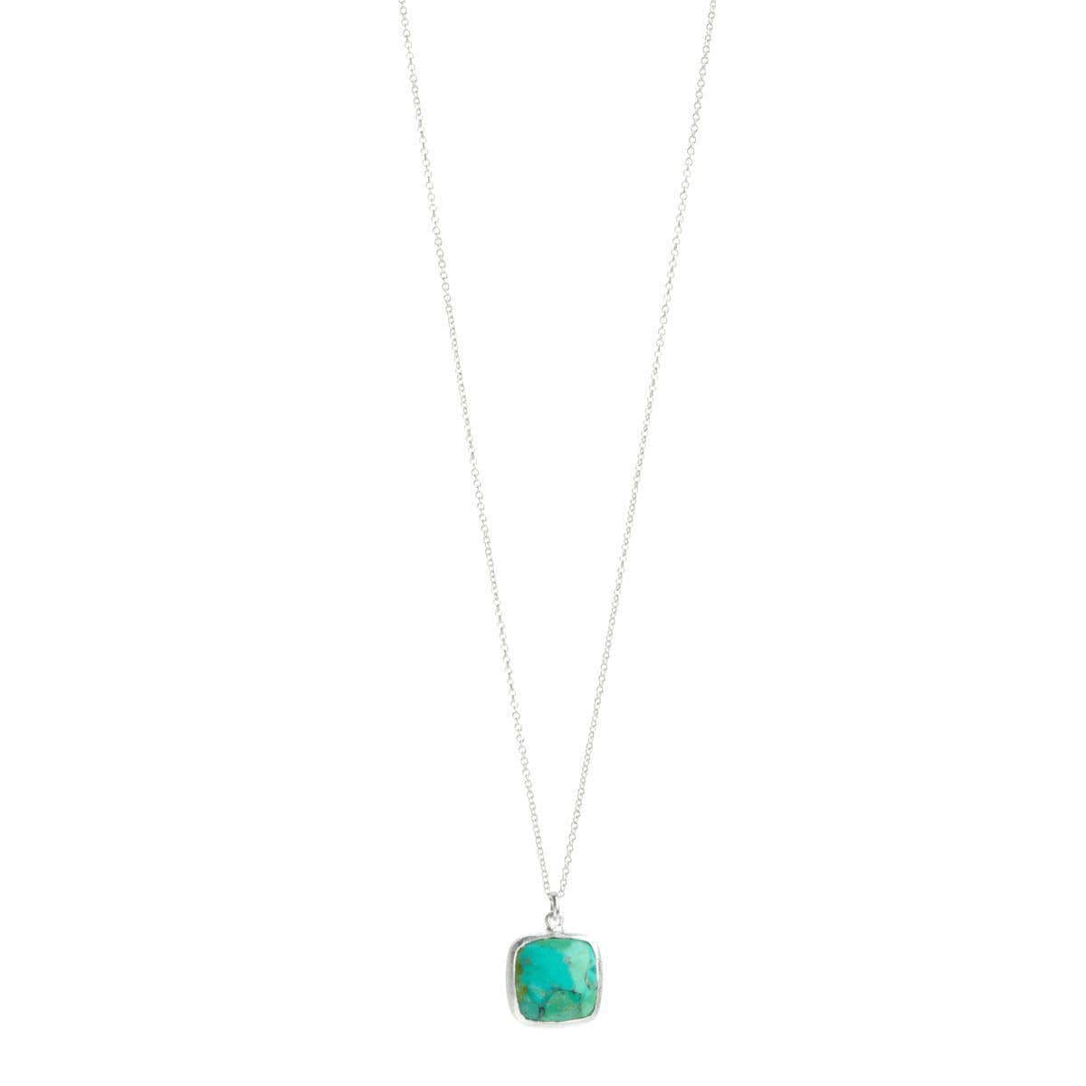Dharma Sterling Silver with Turquoise Necklace - S7015N-TRQ-Nina Nguyen-Renee Taylor Gallery
