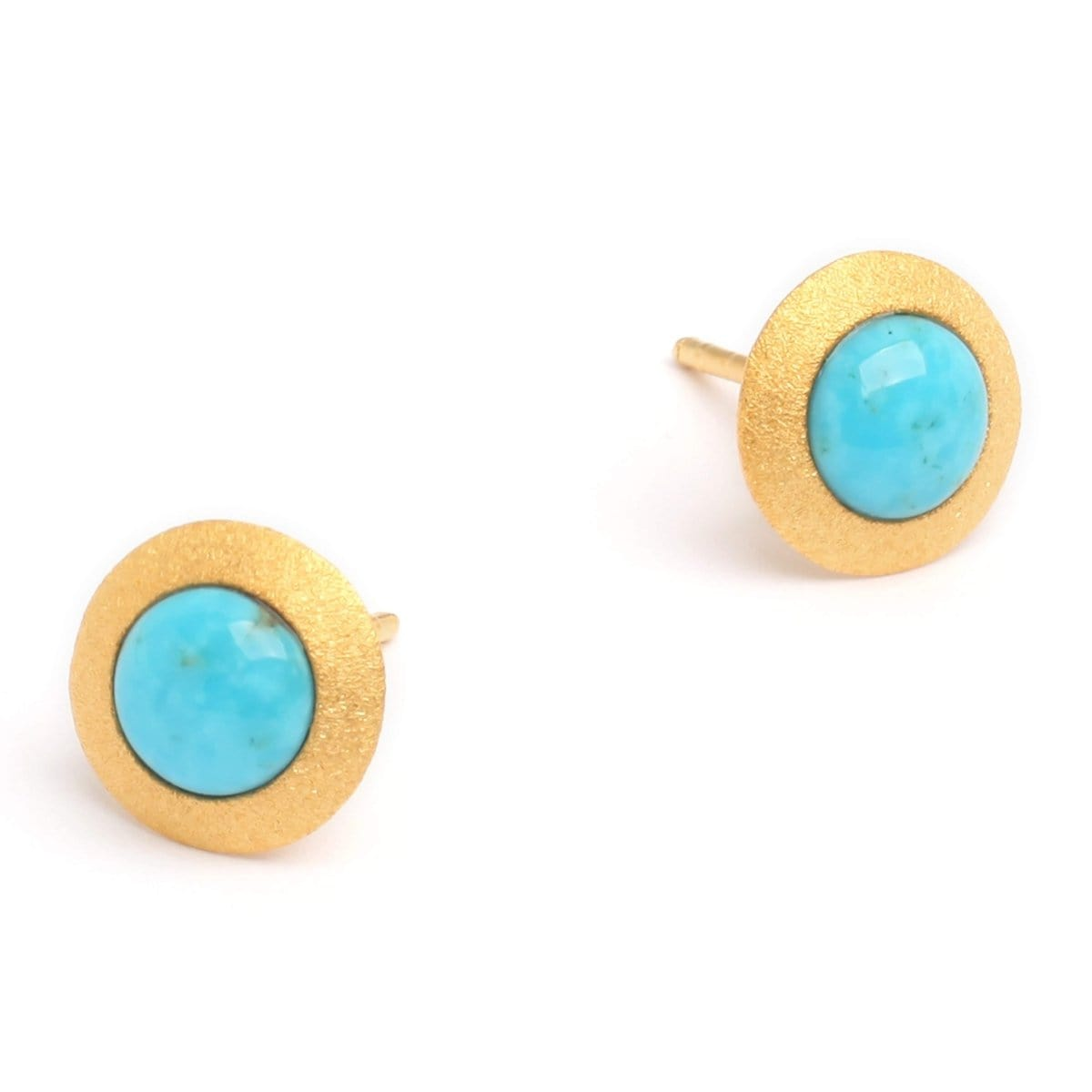 Disca Turquoise Pin Earrings - 19227256-Bernd Wolf-Renee Taylor Gallery