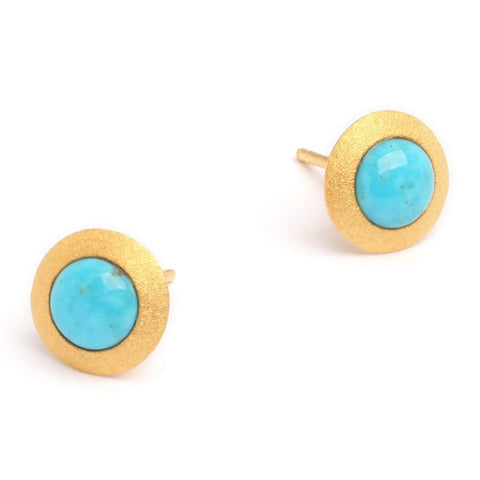 Disca Turquoise Pin Earrings - 19227256 - Bernd Wolf