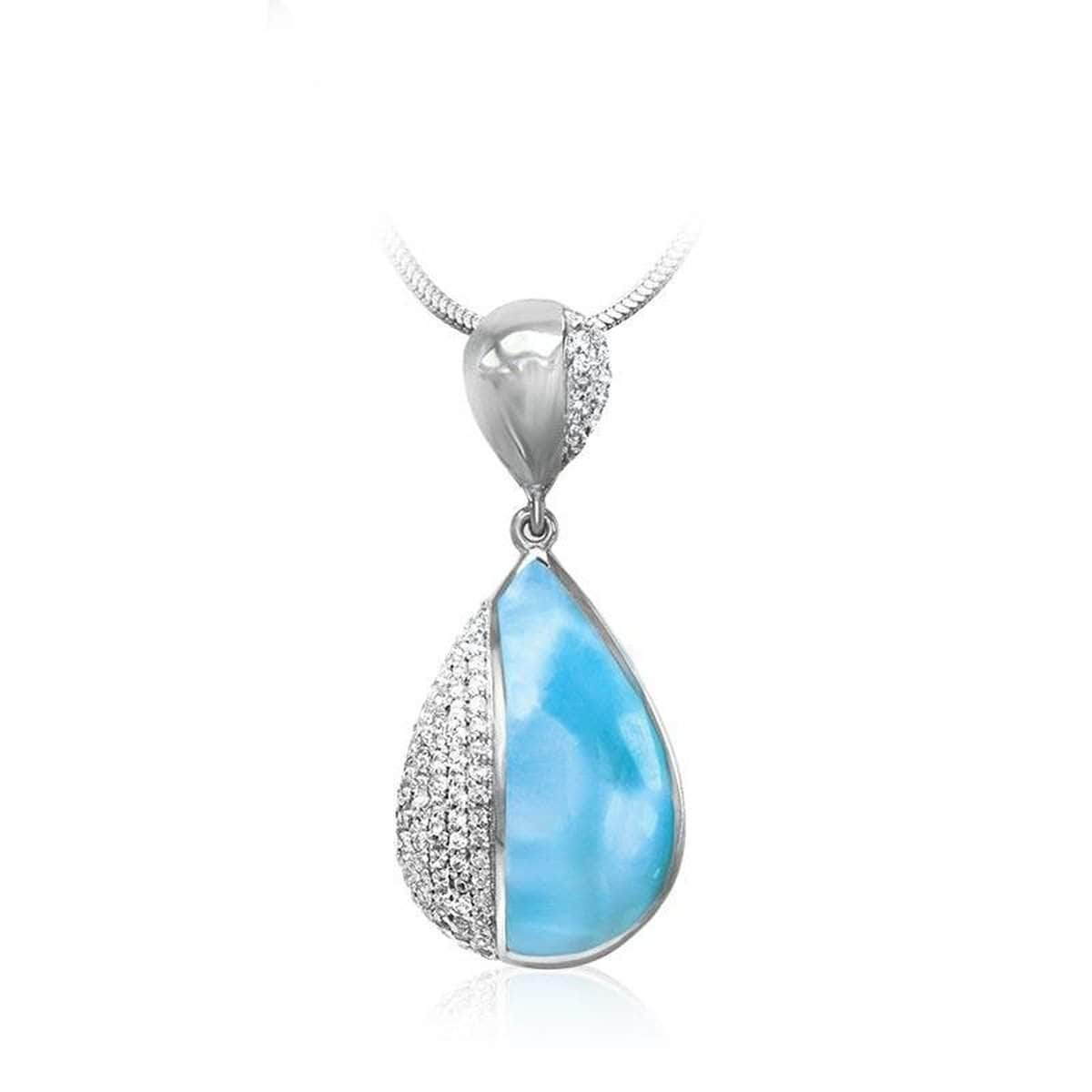 Divine White Sapphire Necklace - Ndivi00-00-Marahlago Larimar-Renee Taylor Gallery